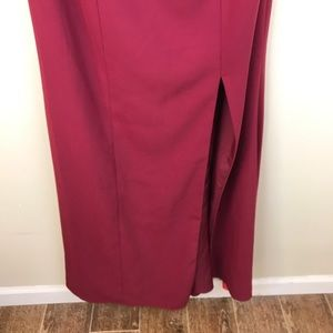 Dessy Collection Dresses - Dessy Collection Burgundy Bridesmaid Dress 3012